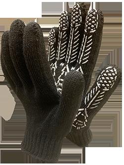 Перчатки х/б черные, зимние